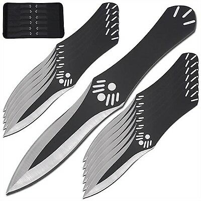 Renaissance Eagles Eye Dark Throwing Knife Game Set