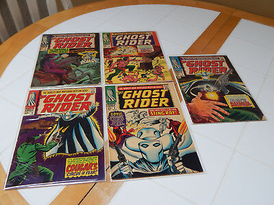 """Silver Age Comic RUN LOT Of 5 """"The Original Ghost Rider"""" #'s 3 to 7  FN Cond."""