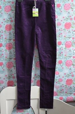 JOULES BNWT Girls 11-12 Years Purple Stretch Fit Trousers Treggings