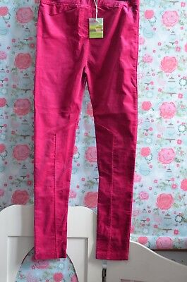 JOULES BNWT Girls 11-12 Years Pink Stretch Fit Trousers Treggings
