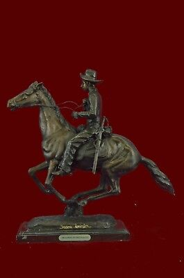 Trooper of the plains by Remington Art Deco Marble Figurine Bronze Sculpture Sta