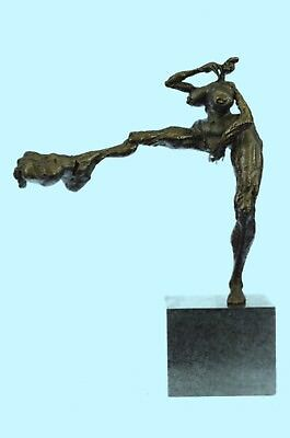 Signed Original R.Cook Limited Edition Nude Naked Girl Figurine Bronze Sculpture