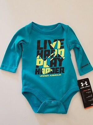 NWT Under Armour Baby Boys One Piece Bodysuit Pacific size 3/6M