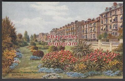 A R QUINTON POSTCARD - The Gardens, Clarence Parade Southsea *3835 update