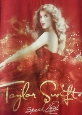 TAYLOR SWIFT / SPEAK NOW / TOUR T-SHIRT ( Womens, Small, Red)