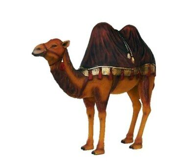 Camel Life Size Statue Burgundy Rug Nativity Christmas Prop Display Decor