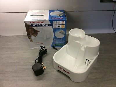 Cat Mate Electric Drinking Fountain With Filter, Suitable For Cats & Dogs