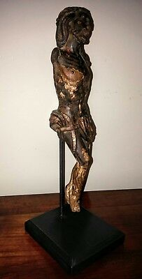 Beautiful French Mounted Carved 16th Century Corpus Christi/ Christ.