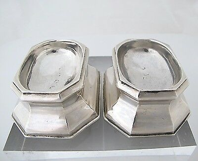 Rare pair silver George II silver trencher salts, 'I.S' London 1736