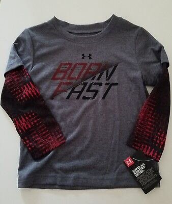 NWT Under Armour Infant Boy's T Shirt Size 2T Gray