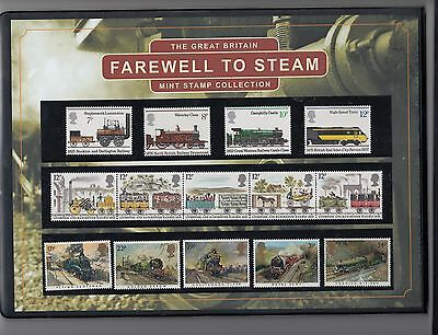 Westminster Folder of GB farewell to steam stamp collection + COA