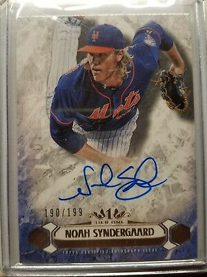 Topps Tier 1 Noah Sydnergaard Auto Autograph On Card /199