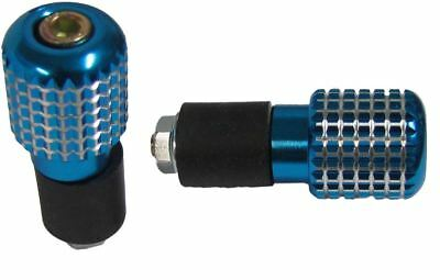 Bar End Weights Diamond Blue