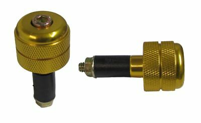 Bar End Weights for Alloy MX Handlebars Gold