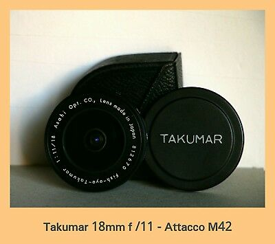 Takumar 18mm. f11 - fish-eye attacco M42