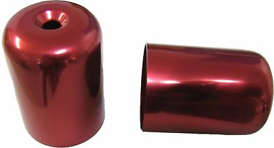 Bar End Weight Covers Red GS500E,GSX750F,RF900R,GSXR1100