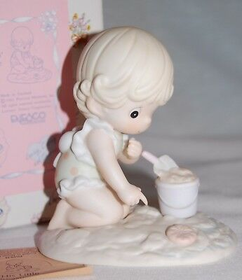 "Precious Moments Pm931 ""his Little Treasure"" 1992 Mint In Box *"