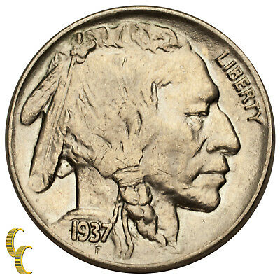 1937 Five Cent Buffalo Nickel 5C (Choice BU Condition) Full Mint Luster