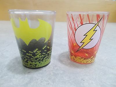 THe Flash and Batman 2 Shot Glasses New