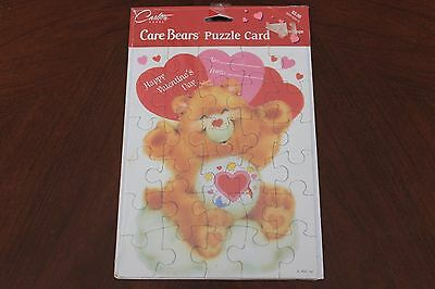 1993 Care Bears Vintage Puzzle Card - Valentine's Day - Carlton Cards