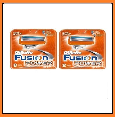 16 Gillette Fusion Power Razor Cartridges Refill Blades, German Made Quality