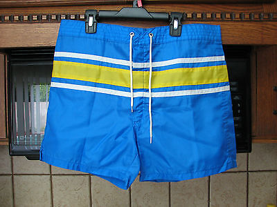 Surfers brand 1960s swim suit trunks board shorts Thin Nylon short length 34 W