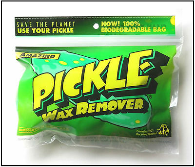 PICKLE SURFBOARD WAX REMOVER, Reusable, Free Wax Comb & Sticker, Team Chow, NEW