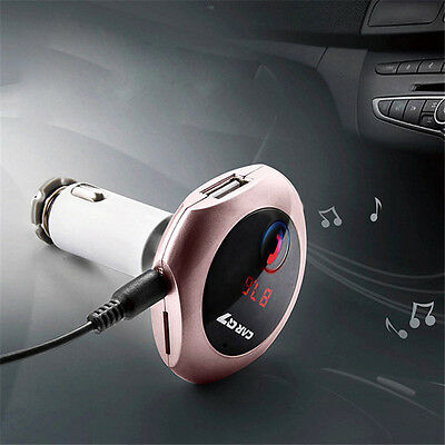 Bluetooth FM Transmitter Car Charger MP3 Player USB Kit for iPhone 7 Samsung