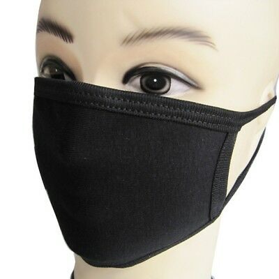 2PCS Unisex Black Health Cycling Anti-Dust Cotton Mouth Face Respirator Mask New