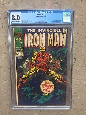 Iron Man 1 !! Cgc 8.0 !! Iconic Silver Age !! Great Investment !! New Case !!