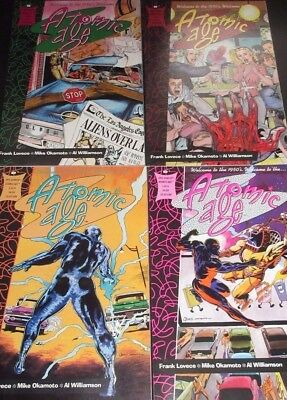 ATOMIC AGE #1,2,3,4 (NM) Welcome to the 50's! Prestige Format! Epic Comics 1990
