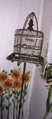 Antique Victorian Bird Cage with stand ASIS