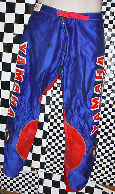 Vintage M Robert Yamaha Motocross Motorcycle Pants Size 34 Made In Italy L@@k