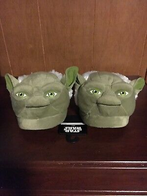 OFFICIAL Star Wars Yoda Adult Slip On Lounge Slippers Green Medium MEN