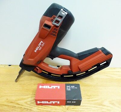 Hilti GX 120 Gas Actuated Fastening Tool Nailer with New Fuel Gas Can