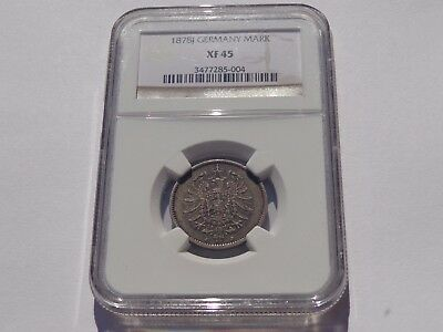 1878 J Germany Silver Mark Ngc Xf-45 Better Date! Super Nice! Must See!!