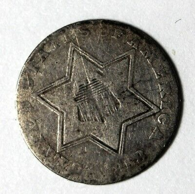 1858 , 3 Cent  Silver Piece, Good 6, Ungraded