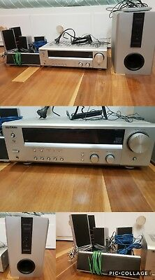 kenwood surround system. sub woofer. speaker. receiver