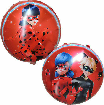 2Pces Miraculous Ladybug Cat Noir Birthday Balloon Party Decor Gift Favor Toy