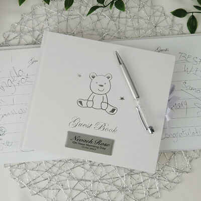 Naming Day Teddy Guest Book- Personalised  | Christening | Baptism