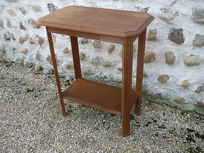Antique small side table living room wooden vintage french old wood table