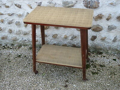 Antique small side table living room to wheels vintage french old table