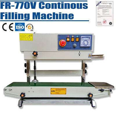 FR-770V Plastic Bag Continuous Band Sealer Automatic Sealing Machine