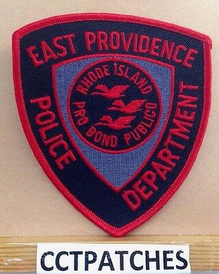 East Providence, Rhode Island Red Subdued Police Shoulder Patch Ri 2