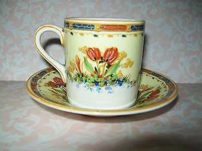 Vintage 'crown Ducal' Demitasse Cup & Saucer Set