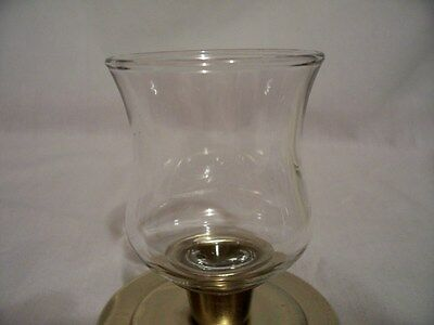 2 Mini Clear Partylite Votive Candle Sconce Cups w/ New Grommets
