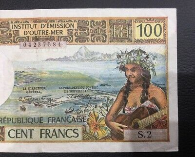 NOUMEA (French Pacific Territory)  100 Cent  Francs  Note  $$$