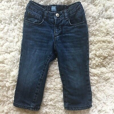 Baby Gap Factory Toddler Girl's Fleece Lined Jeans Size 18-24 months