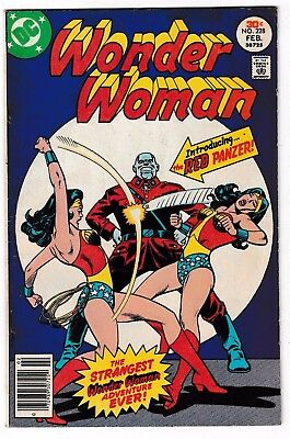 WONDER WOMAN #228 (FN-) 1st RED PANZER Appearance! WWII Stories Begin! DC 1977