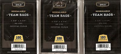 Cardboard Gold CBG 300 Count Lot Of Team Set Bags (3 Bags of 100) (S-0006)